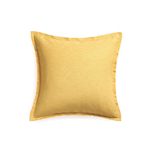 "Linden Saffron 23"" Pillow with Feather Insert"