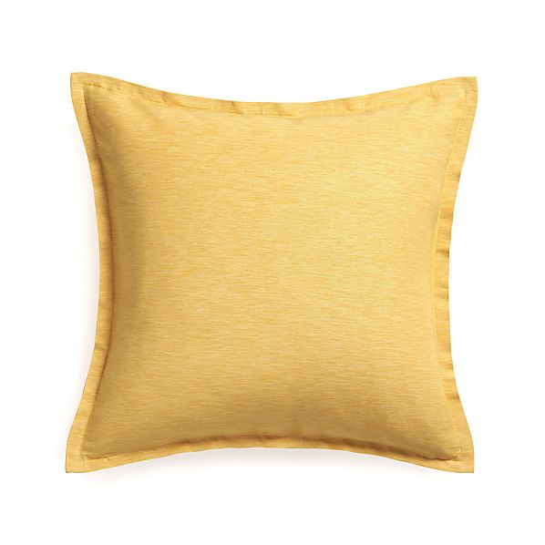 "Linden Saffron 23"" Pillow with Down-Alternative Insert"