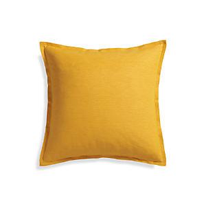 """Linden Yolk 23"""" Pillow with Down-Alternative Insert."""