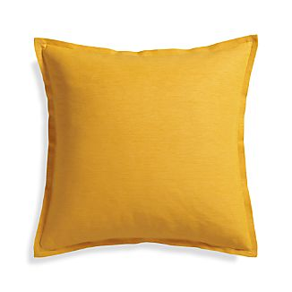 "Linden Yolk 23"" Pillow with Down-Alternative Insert."
