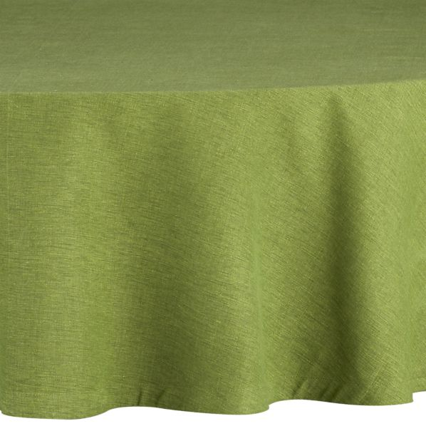 "Linden Mint 90"" Round Tablecloth"