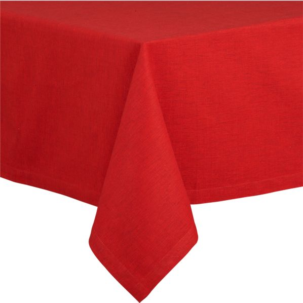 "Linden 60""x144"" Ruby Tablecloth"