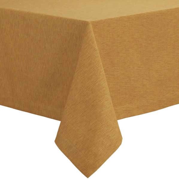 "Linden Butterscotch 60""x108"" Tablecloth"