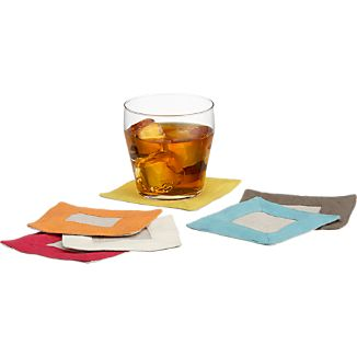 Linen Border Coasters Set of Six