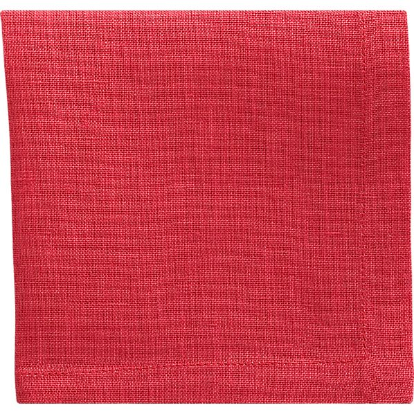 Set of 8 Linen Azalea Cocktail Napkins