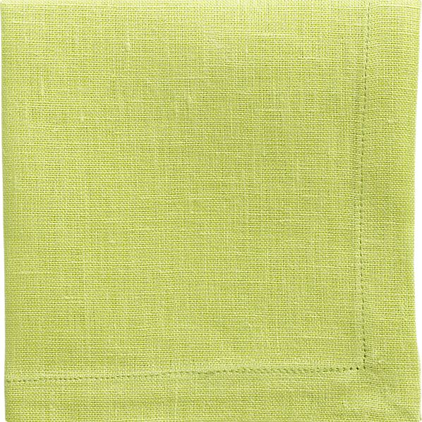 Linen Lime Cocktail Napkin