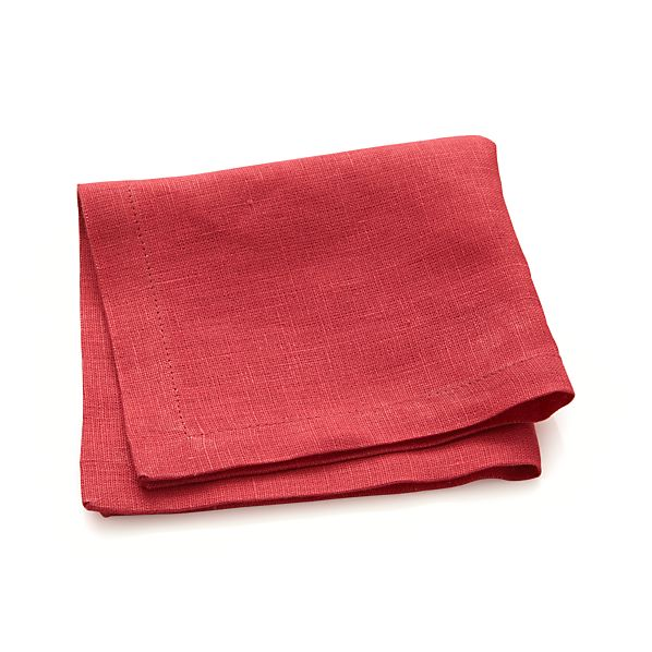 Linen Azalea Cocktail Napkins Set of Eight