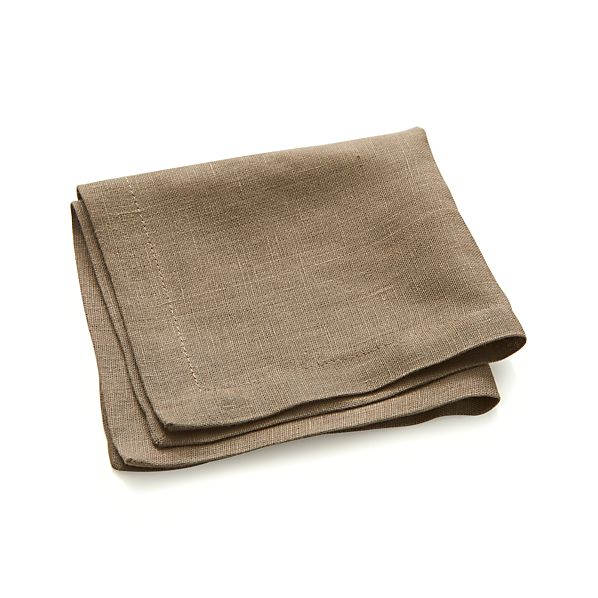 Linen Brindle Cocktail Napkins Set of Eight
