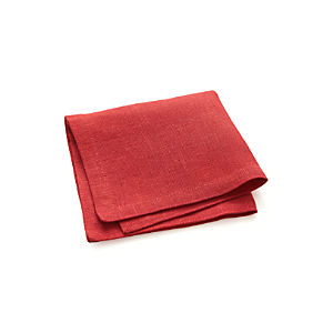 Linen Cherry Cocktail Napkin