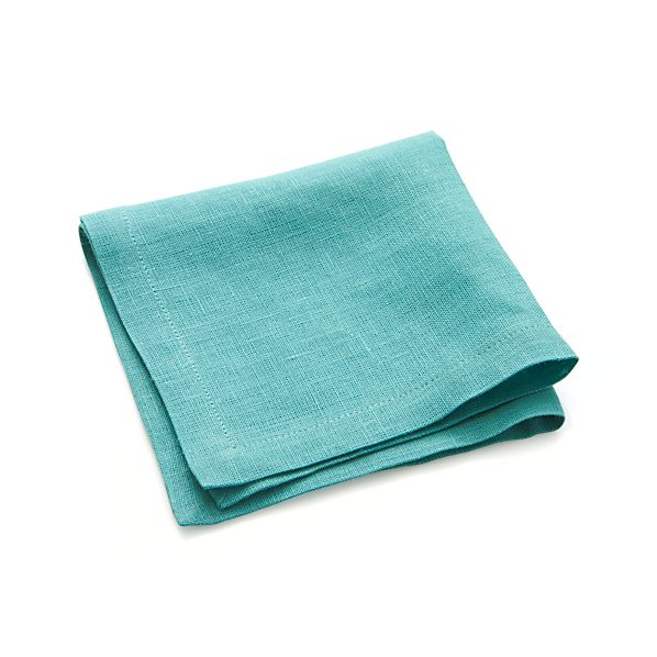 Linen Ocean Cocktail Napkins Set of Eight