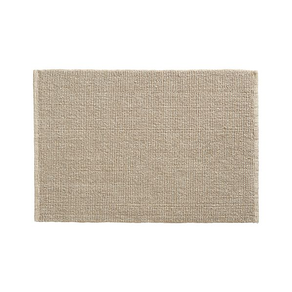 Organic Cotton Belgium Linen Bath Rug: Linen Cotton Bath Rug