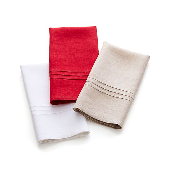 Linen Guest Towel Set of Three