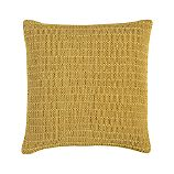 "Linen Knit Gold 18"" Pillow"
