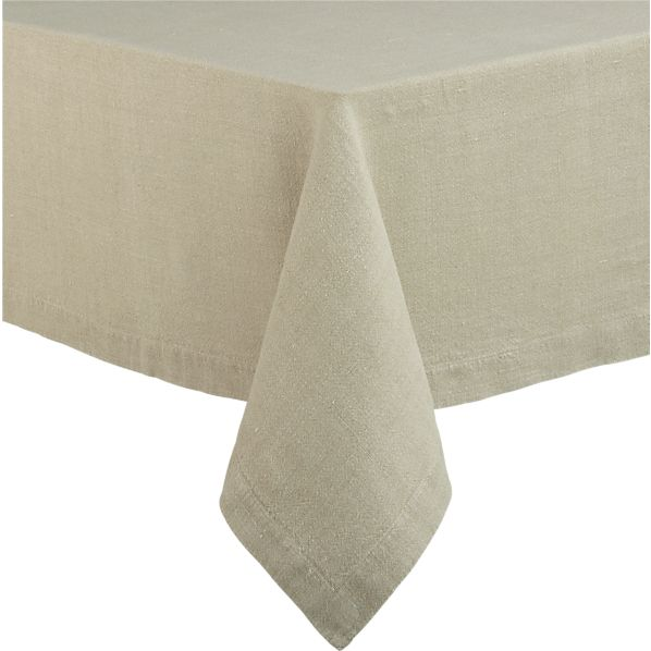 "Linen Natural 60""x60"" Tablecloth"