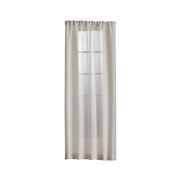 Linen Sheer Natural Curtain Panels