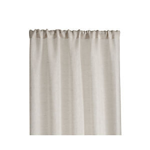 Natural Linen Sheer 100x63 Curtain Panel