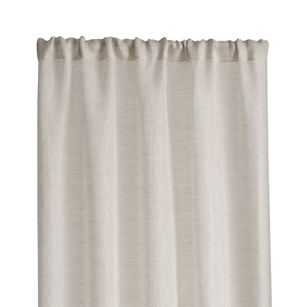 "Natural Linen Sheer 52""x84"" Curtain Panel"