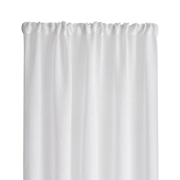 White Linen Sheer 100x84 Curtain Panel