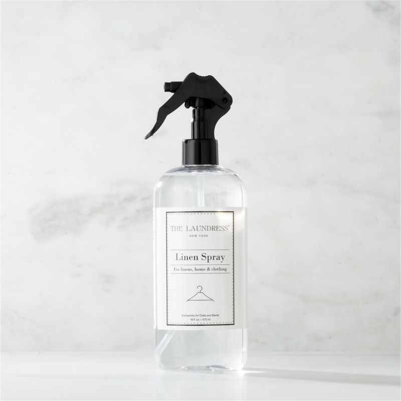 Take a new view of laundry day with our exclusive cleaning solutions from the experts at The Laundress®. Formulated just for Clean Slate™, this ultra-gentle, eco-friendly linen spray is subtly infused with the scent of lavender for the ultimate finish when ironing or steaming. It also refreshes and deodorizes home furnishings and maintains a freshly laundered scent between washings. The plant-based formula is 100% biodegradable, non-toxic, non-abrasive, and chlorine- and allergen-free with no artificial colors or dyes, making it a kind choice for both the environment and sensitive skin.<br /><br />The Laundress® was dreamt up by two graduates from Cornell University's Fiber Science, Textile and Apparel Management and Design program. Frustrated with the financial and environmental cost of dry cleaning, the pair researched and developed eco-conscious formulas designed to properly care for every item in your closet.<br /><br /><NEWTAG/><ul><li>Formulated exclusively for Clean Slate™ by The Laundress®</li><li>For use as a sheet spray, furniture refresher and pick-me-up between washings</li><li>Plant-based spray is 100% biodegradable, non-toxic and allergen-free with no artificial colors or dyes</li><li>Subtly scented with lavender</li><li>Plastic container is PBA-free</li><li>Made in USA</li></ul>