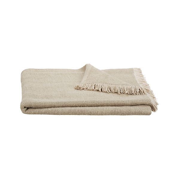 Linen Twill Natural Throw