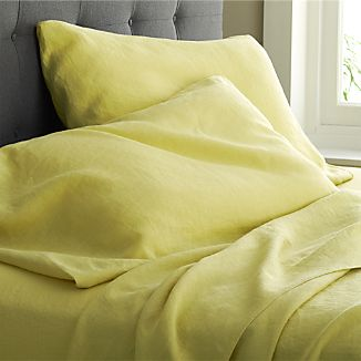 Lino Citron Linen Sheets and Pillowcases