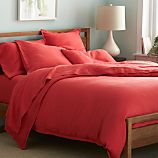 Lino Coral Linen Duvet Covers and Pillow Shams