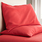 Set of two Lino Coral Linen King Pillowcases.