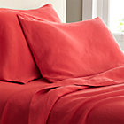 Lino Coral Linen Queen Fitted Sheet.