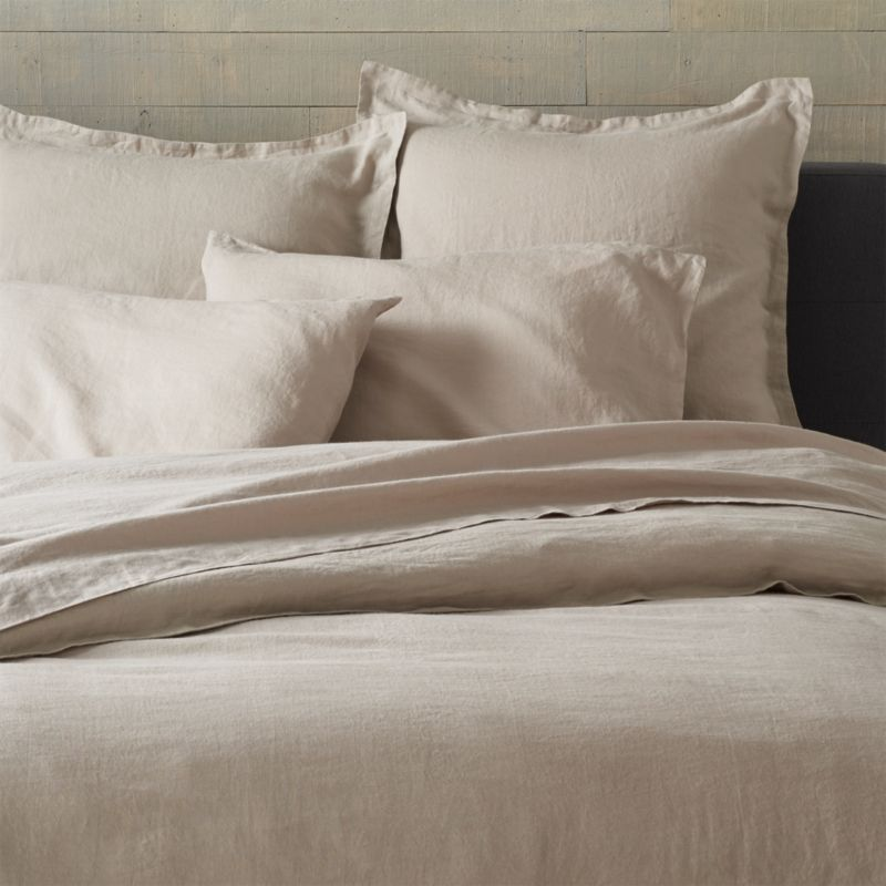 Lino Flax Linen King Duvet Cover Crate And Barrel