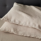 Set of 2 Lino Flax Linen King Pillowcases.