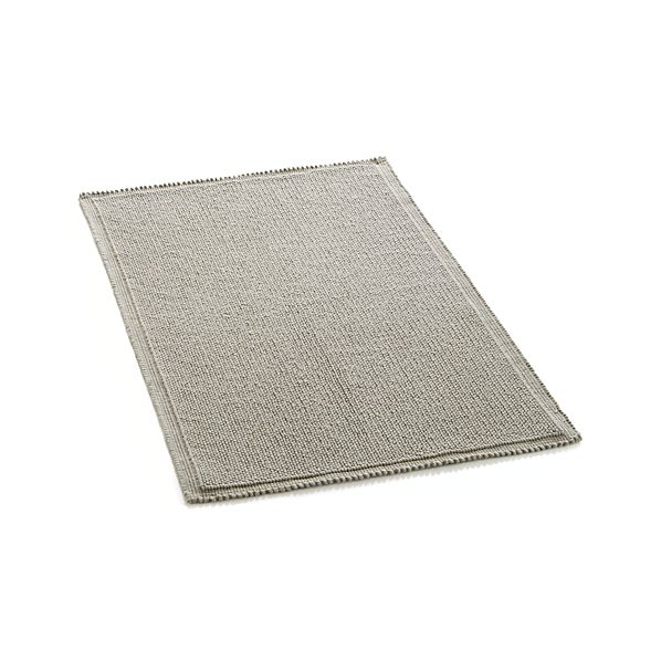 Crate And Barrel Bath Rugs: Liso Grey Bath Rug