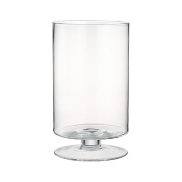 London Wide Tall Glass Hurricane Candle Holder