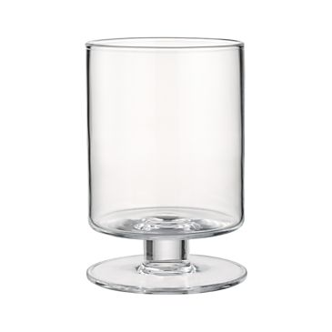 London Wide Short Glass Hurricane Candle Holder