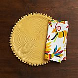 Loopdedoo Lemon Placemat and Otomi Napkin