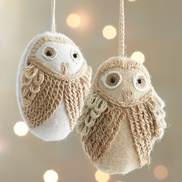 Loopy Owl Ornaments
