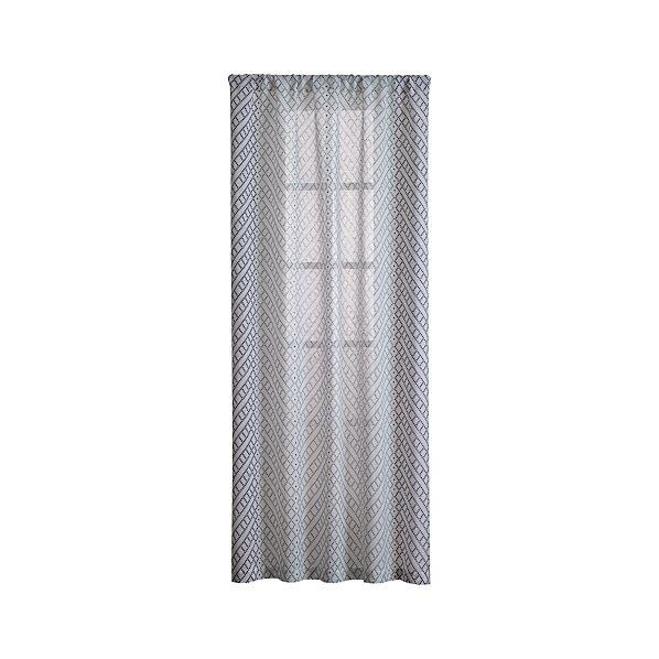 Lorena Blue Chevron Curtains