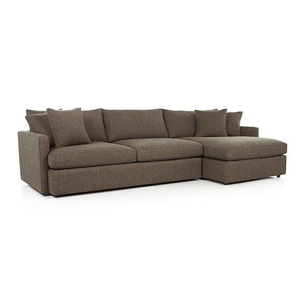 lounge ii 2 piece sectional sofa truffle crate and barrel