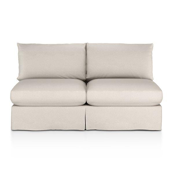 Lounge Slipcovered Armless Loveseat