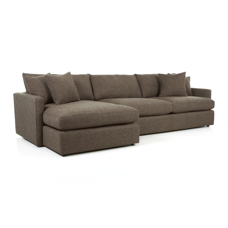 Lounge Ii 2 Piece Sectional Sofa Truffle Crate And Barrel