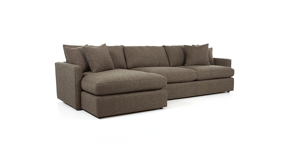 Lounge II 2-Piece Sectional Sofa - Truffle  Crate and Barrel