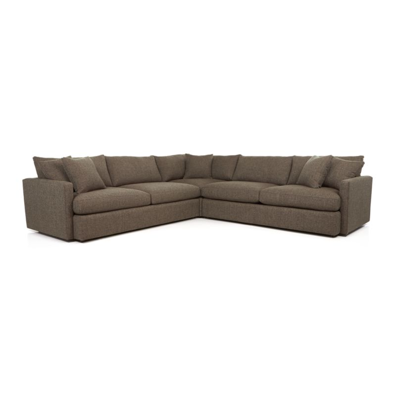 lounge ii 3 piece sectional sofa truffle crate and barrel