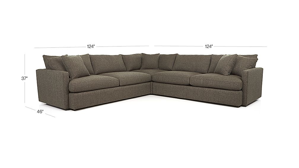 Lounge II 3-Piece Sectional Sofa Dimensions