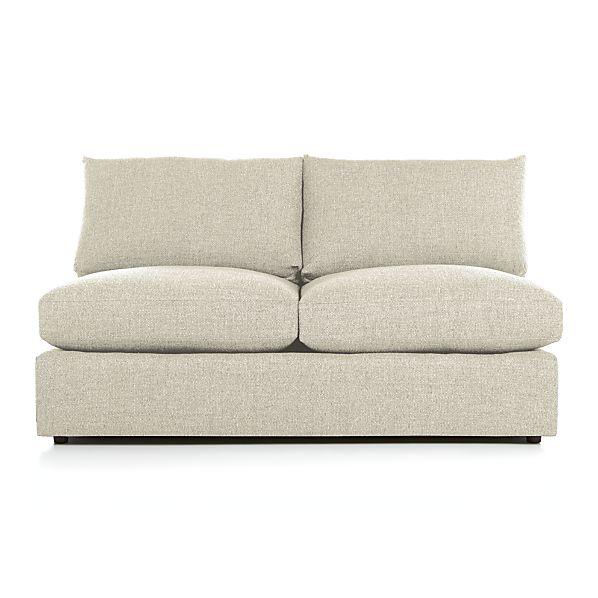 Lounge II Armless Sectional Loveseat