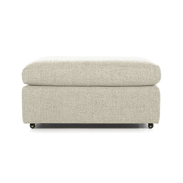 Lounge Ii 37 Quot Ottoman With Casters Cement Crate And Barrel