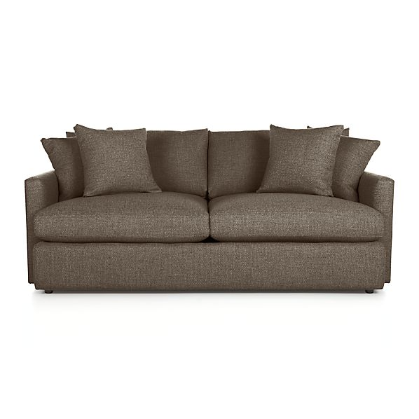 Lounge II 83 Sofa Truffle Crate And Barrel