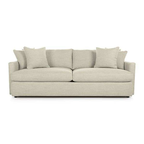 lounge ii 93 sofa cement crate and barrel
