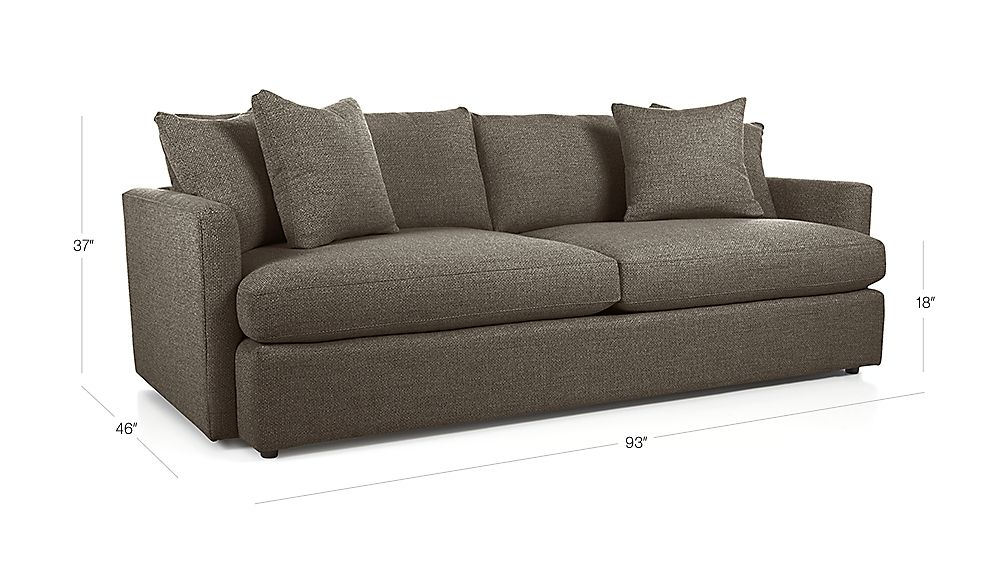 Lounge Ii 93 Quot Sofa Truffle Crate And Barrel