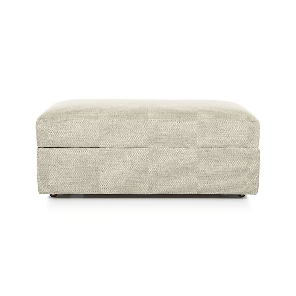 Lounge Ii Storage Ottoman With Casters Cement Crate