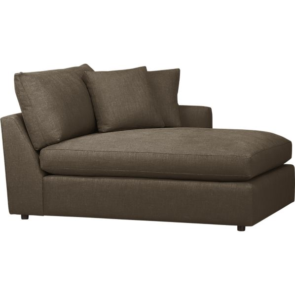 Lounge Right Arm Sectional Chaise Crate And Barrel