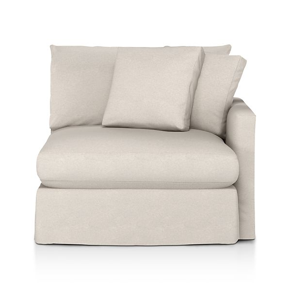 Lounge Slipcovered Right Arm Chair